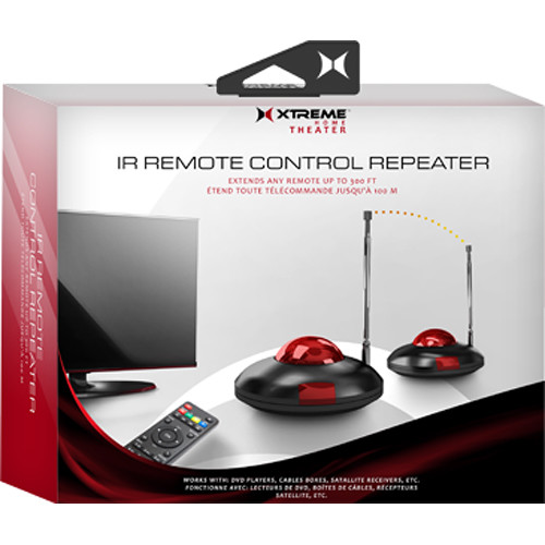 Xtreme Cables Wireless Ir Remote Control Repeater Kit W/ Accessories Black