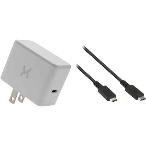 Xuma 18W USB Type-C PD Wall Charger with USB Type-C Cable Kit (6', Black)