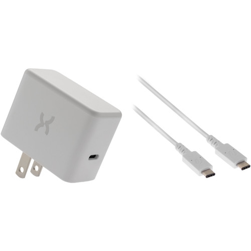 Xuma 18W USB Type-C PD Wall Charger with USB Type-C Cable Kit (6', White)