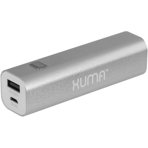 Xuma 2600 mAh Portable Power Pack (Silver)