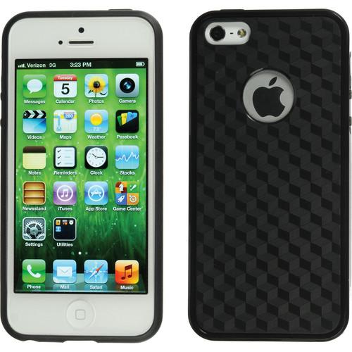 Xuma Patterned Flex Case for iPhone 5, 5s & SE (Black Edges / Black Rear)