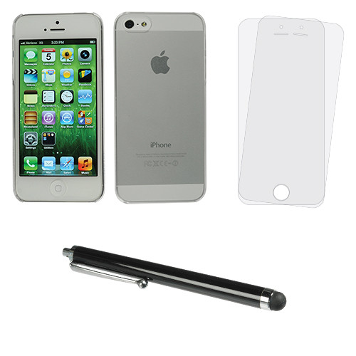 Xuma Clear Ultra-Slim Snap-on Case for iPhone 5/5s with Stylus and Screen Protectors Kit