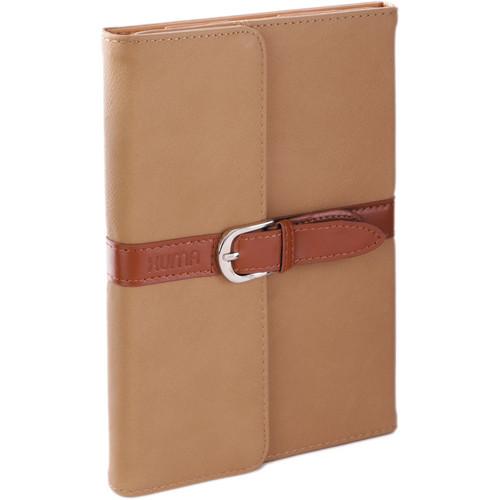 Xuma Designer Folio Clutch Case for iPad mini (All Generations) - (Tan)