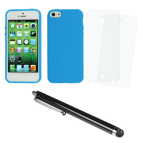 Xuma Flex Case for iPhone 5 & 5S with Accessories Kit (Blue)