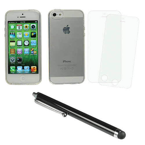 Xuma Flex Case for iPhone 5 & 5S with Accessories Kit (Clear)