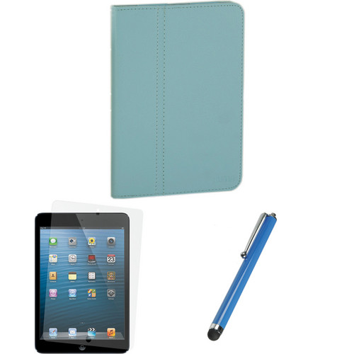 Xuma Folio Case for iPad mini and Accessories Kit (Blue)