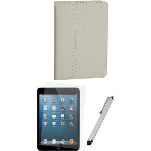 Xuma Folio Case for iPad mini and Accessories Kit (White)