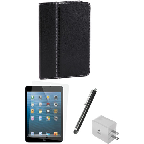Xuma Folio Case for iPad mini and Accessories Kit (Black)