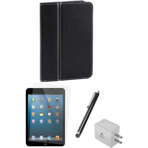 Xuma Folio Case for iPad mini and Accessories Kit (Black)