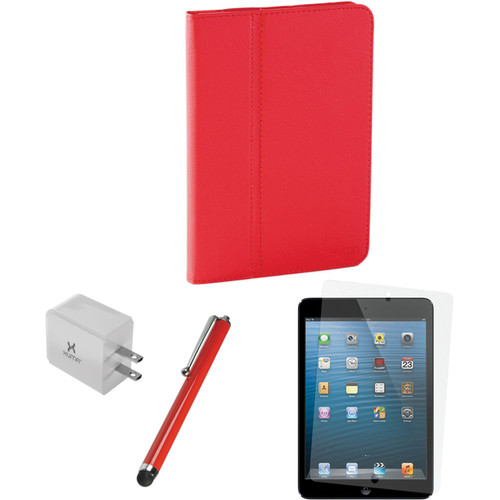 Xuma Folio Case for iPad mini and Accessories Kit (Red)