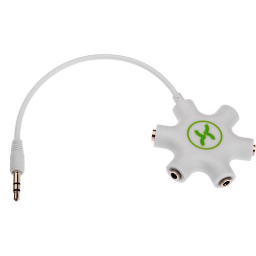 Xuma 5-Way Headphone Splitter (White)