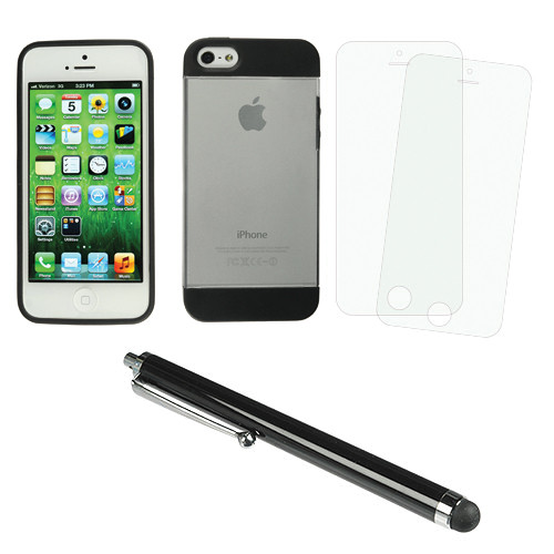 Xuma Hybrid Case for iPhone 5 & 5S with Accessories Kit (Clear)