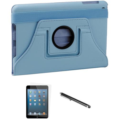 Xuma Rotatable Folio Case for iPad mini with Accessories Kit (Blue)