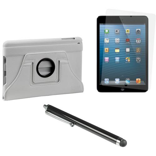 Xuma Rotatable Folio Case for iPad mini with Accessories Kit (White)
