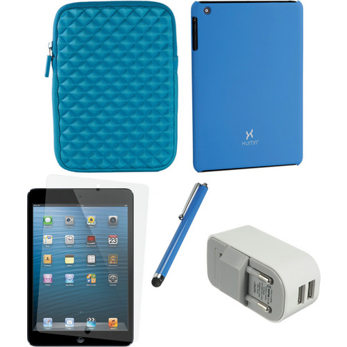 Xuma Case and Sleeve with Accessories Kit for iPad mini (European, Blue)