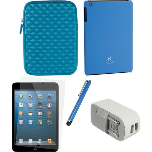 Xuma Case and Sleeve with Accessories Kit for iPad mini (European, Blue)