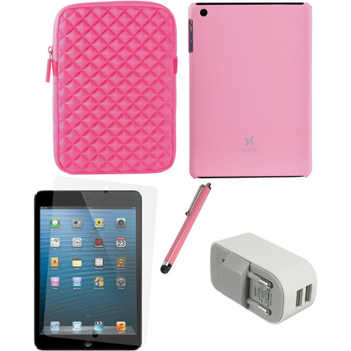Xuma Case and Sleeve with Accessories Kit for iPad mini (European, Pink)
