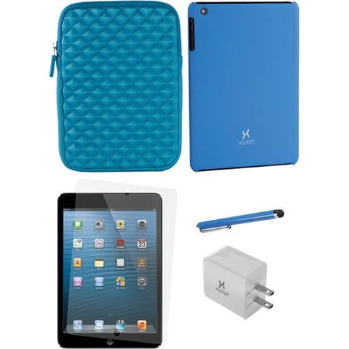 Xuma Snap-on Case for iPad mini with Accessories Kit (Blue)