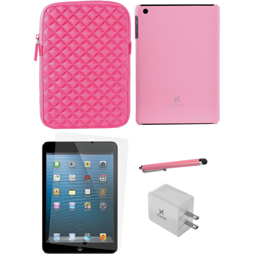 Xuma Snap-on Case for iPad mini with Accessories Kit (Pink)