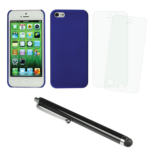 Xuma Snap-On Case for iPhone 5 & 5s with Accessories Kit (Blue)