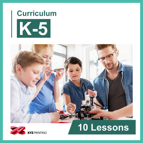 XYZprinting Grades K-5 STEAM Curriculum 1-Year Subscription (Download)
