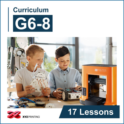 XYZprinting Grades 6-8 STEAM Curriculum 1-Year Subscription (Download)