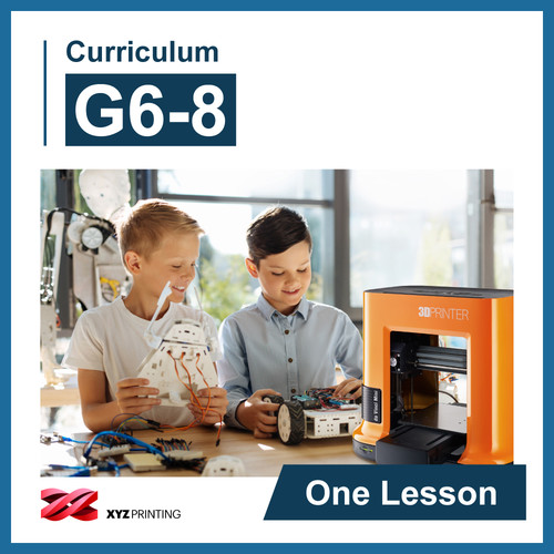 XYZprinting Grades 6-8 STEAM Curriculum: One Lesson (Download)