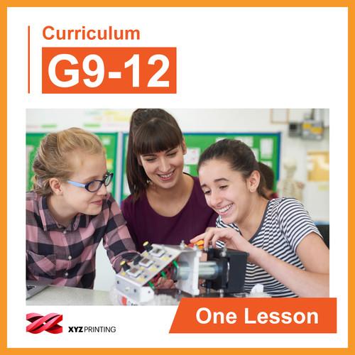 XYZprinting Grades 9-12 STEAM Curriculum One Lesson (Download)