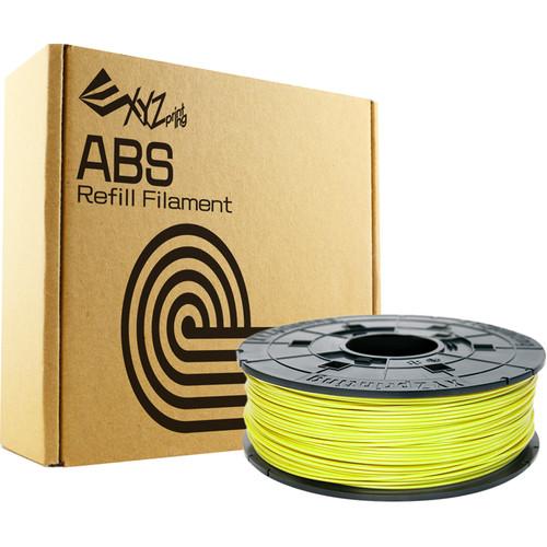 XYZprinting 1.75mm ABS Refill Filament (600g, Cyber Yellow)