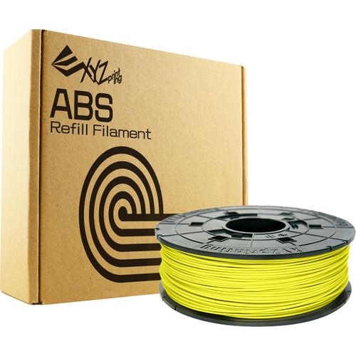 XYZprinting 1.75mm ABS Refill Filament (600g, Neon Yellow)
