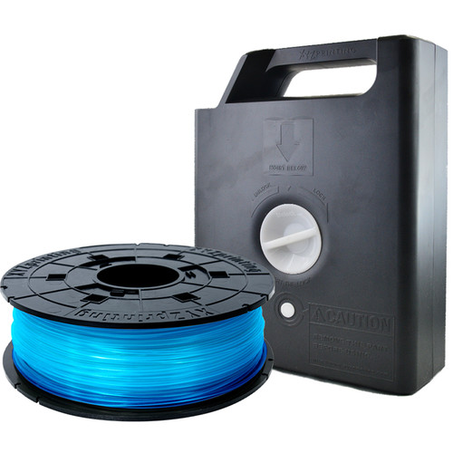 XYZprinting 1.75mm PLA Filament Cartridge (600g, Clear Blue)