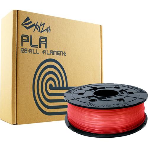 XYZprinting 1.75mm PLA Refill Filament (600g, Clear Red)