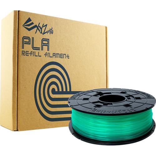 XYZprinting 1.75mm PLA Refill Filament (600g, Clear Green)