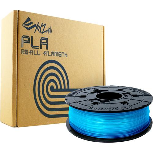 XYZprinting 1.75mm PLA Refill Filament (600g, Clear Blue)