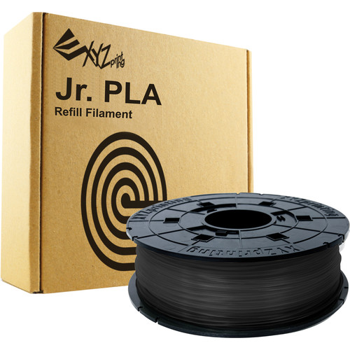 XYZprinting 1.75mm PLA Filament for the Jr. and Mini 3D Printer Series (600g, Black)