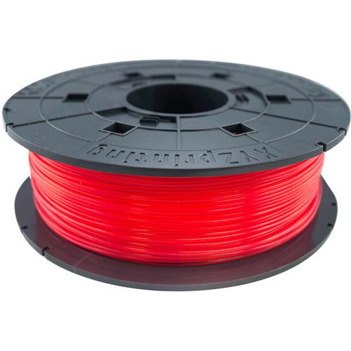 XYZprinting 1.75mm PLA Filament (600g, Clear Red)