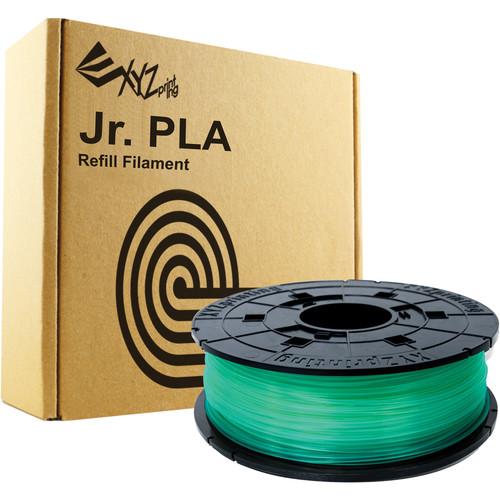 XYZprinting 1.75mm PLA Filament for the Jr. and Mini 3D Printer Series (600g, Clear Green)