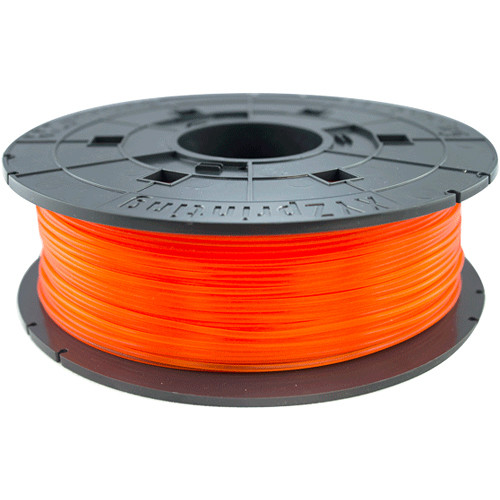XYZprinting 1.75mm PLA Filament for the Jr. and Mini 3D Printer Series (600g, Clear Tangerine)