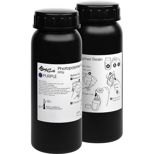 XYZprinting Nobel Superfine DLP Series Resin 500ml Purple (2 Pack)
