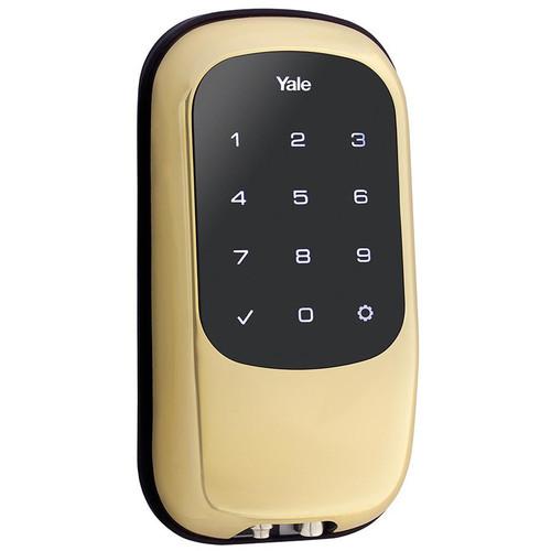 Yale Key-Free Touchscreen Z-Wave Deadbolt Entry Lock (Bright Brass)