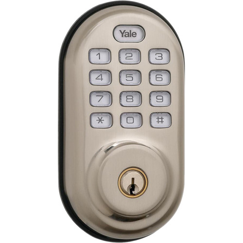 Yale Keyed Push-Button Z-Wave Deadbolt Entry Lock (Satin Nickel)