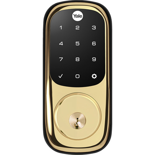 Yale Real Living Assure Lock Touchscreen Deadbolt (Polished Brass) with Connected by August