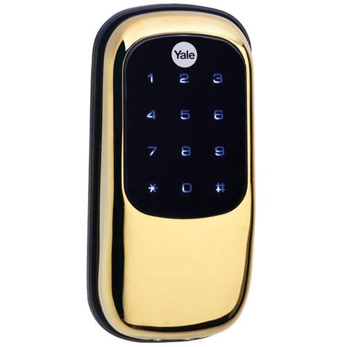 Yale Key-Free Touchscreen Deadbolt with ZigBee (Bright Brass)