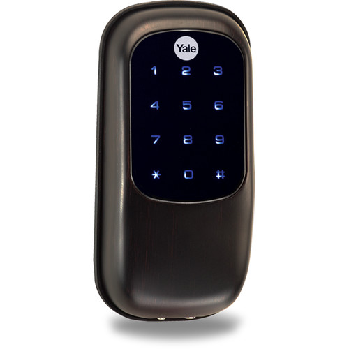 Yale Key-Free Touchscreen Z-Wave Deadbolt Entry Lock with Voice-Guided Programming (Permanent Oil-Rubbed Bronze)