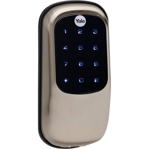 Yale Key-Free Touchscreen Z-Wave Deadbolt Entry Lock with Voice-Guided Programming (Satin Nickel)