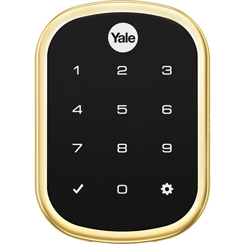 Yale Real Living Assure Lock SL Deadbolt (Polished Brass) with Connected by August
