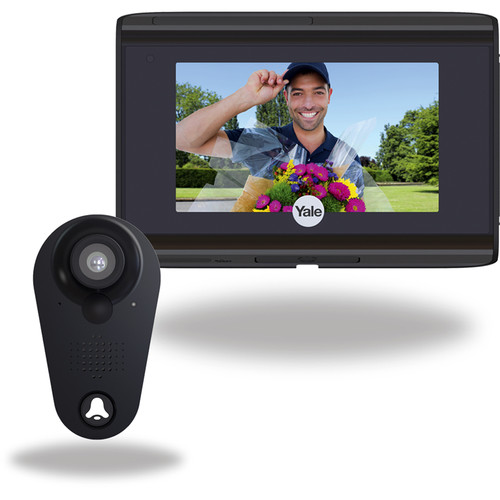 Yale Real Living Look Door Viewer with Wi-Fi (Black)