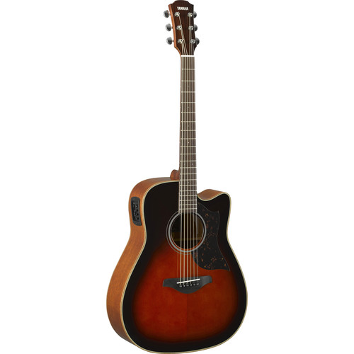 Yamaha A1M Western Acoustic/Electric Cutaway Guitar (Tobacco Brown Sunburst)