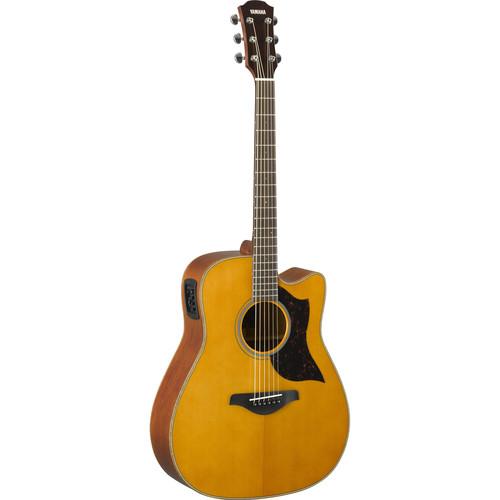 Yamaha A1M Western Acoustic/Electric Cutaway Guitar (Vintage Natural)
