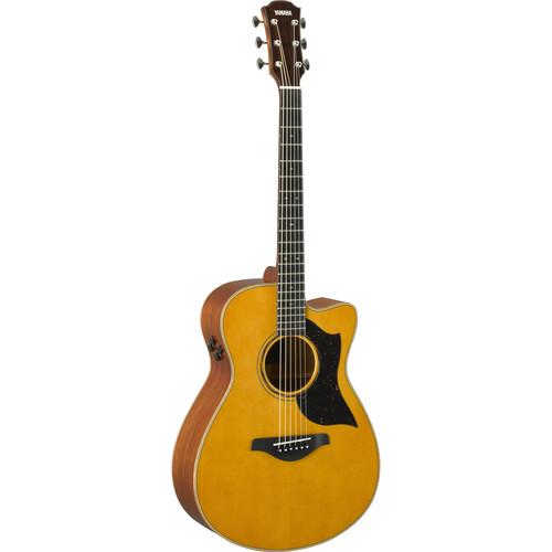 Yamaha Small Body Cutaway Acoustic Electric Guitar (Mahogany)